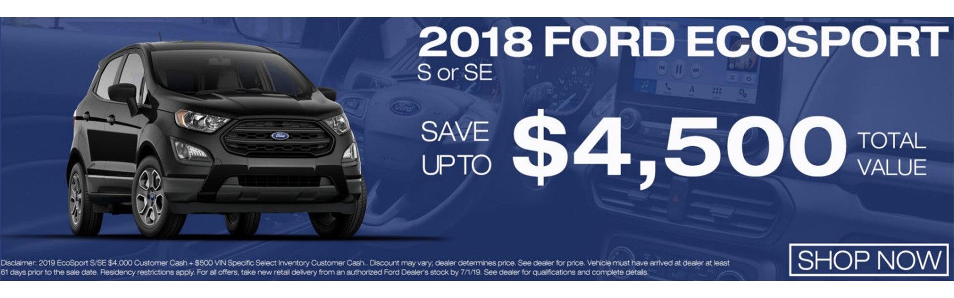 2018 Ford Ecosport On Now At Gresham
